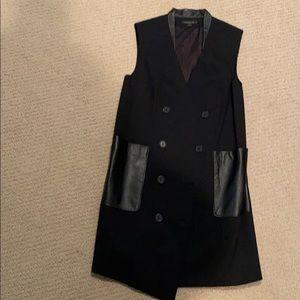 Rachel Zoe wool blend long vest.